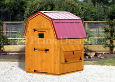 Backyard chicken coop plans with material list, classic barn roof #90606CB