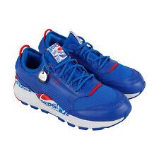 Puma Rs-0 X Pepsi Masculino Couro Azul Baixo Top De Amarrar Tênis