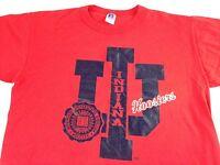 Indiana Hoosiers T-Shirt VTG University Adult SZ M/L 80s 90s USA Made Bright Tee