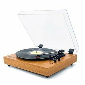 Vinyl Musik auf Retro Schallplattenspieler für 33/45/78 RPM Vinyl Schallplatten, Bluetooth