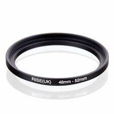 RISE(UK) 48mm-52mm 48-52 mm 48 to 52 Step Up Ring Filter Adapter black