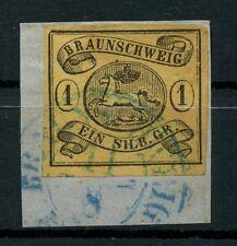 Braunschweig: Mi.Nr.6aY gestempelt auf Briefstück, gepr. Lange BPP. Mi: 100,-