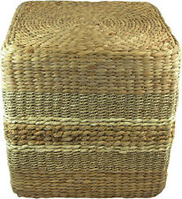 SHAPJW Natural Woven jute Poufs- 16 X 16 (Surrey)