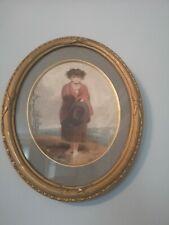 Vintage picture in a old vintage gold frame