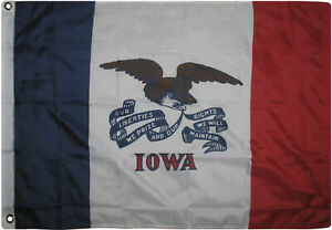 3x5 State of Iowa Flag 3'x5' House Banner Super Polyester Grommets Premium