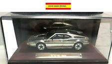 BMW M1 1978-1981 1:43 PLATEADO CROMADO METAL BASE DE MADERA COCHES ALTAYA URNA