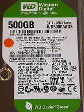 500 gb de Western Digital WD 5000 aads - 98s9b1 DCM: hbrnht 2chn/24 ene 2011
