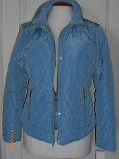 MICHAEL KORS Women's Quilted Puffer Light Blue Coat Jacket Sz S NWT