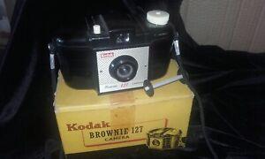 Kodak vintage Brownie 127 camera in original box