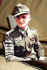 "German WW 2 Panzergrenadiere Sergeant Major Colorized Photo Standee 10.5"" Tall"
