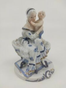 Stunning Figurine 'Mom and Baby' 1950-1960 Porcelain China Mother Child Ornament