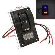 Car Truck SUV Marine Voltmeter LED Dual Battery Test Panel Rocker Switch 12v New