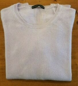 LADIES MARKS & SPENCER PURE 100% CASHMERE JUMPER SIZE 12