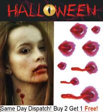 Halloween Zombie Vampire Bite Scars Tattoos Fake Blood Scar Wound Make-Up Kit