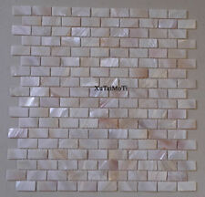 white shell mosaic mother of pearl kitchen backsplash bathroom wall brick tile