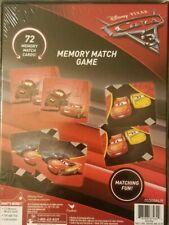 New Disney Pixar CARS 3 Memory Matching Game NEW Sealed