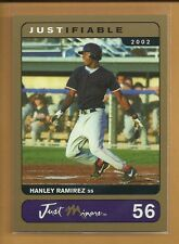Hanley Ramirez RC 2002 03 Justifiable Gold Rookie Card #56 ser #'d /1000 Red Sox