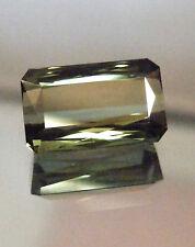 Natural large green Tourmaline...emerald cut ..11.46 Carat!