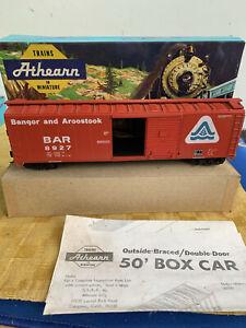 Ho Scale Athern Blue Box Kit 50ft  Rail Box Car Bangor & Aristook