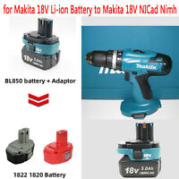 Batterie Adapter Konverter für Makita 18V BL18 Li-ion Battery to 18V NI-Cd Ni-MH