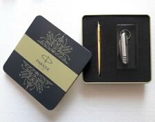 Parker Jotter Gold Ball Pen, Tin Gift Box Edition with Knife