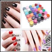 36 Pure Colors Shiny Extension Nail Art UV Gel Builder Tips Glue Manicure Decors