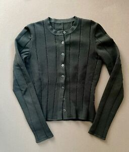 Alaia Damen Strick Cardigan Wolle Cotton Schwarz Frz.40 EU 38