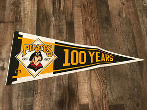 Vintage 1887-1987 100 YEARS OF PITTSBURGH PIRATES BASEBALL FULL SIZE PENNANT
