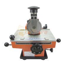 Semi Auto Deboss Metal Label Embosser Dog Tag Stamping Printer Marking Machine