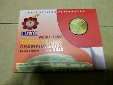 Coin card world team table tennis championships 2016 commemorative coin unc