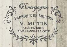 Plantilla Shabby Chic Francés Arte para Decoración De Muebles Vintage de Mylar de 125 Micrones A5 (150)