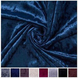 """""""Bling"""" Crushed Velvet Upholstery Velour Lightweight Cushions Furnishing Fabric"""