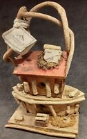 Handcrafted Appalachian Art Vintage Rustic Birdhouse Made To Hang Outdoors VHTF
