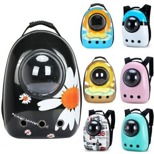 Cat Travel Carrier Bags Space Capsule Breathable Transparent Puppy Cat Backpack