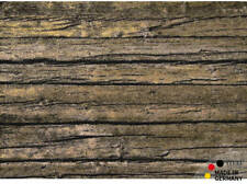 Fußmatte Abstreifer Schmutzfangmatte Holz alte Bretter 50x70 cm waschbar