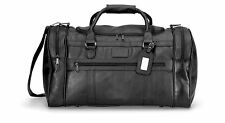 "Gemline Large Black Simulated Leather Executive Travel 22"" Duffel Bag - New"