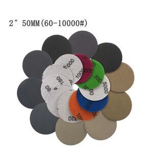 10 Stk Klett Schleifscheibe 60-10000 Schleifpapier Nass und Trocken Haftscheibe