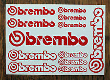 brembo STICKER SETS - SHEET OF 12 STICKERS - DECALS - Motorcycling