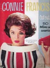 Vintage Uncut 1963 Connie Francis Paper Dolls~#1 Reproduction~Great Vintage Set!