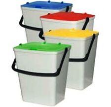 Kit 4 secchi colorati con maniglia per differenziata 14 Lt litri rifiuti pulizia