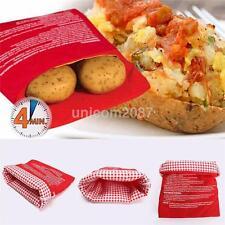 1PCS Reusable Potato Microwave Cooking Bag Corn Sweet Tortilla Bread Radish US