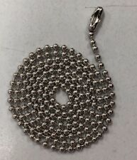 """Ball Chain Stainless Steel 30"""" inch #3  Bead Chain"""