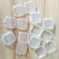 10Pcs Clear Plastic Transparent With Lid Small Storage Box Collection Con TXI
