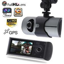 "2.7"" 1080P Car Vehicle GPS DVR Camera G-Sensor Dual Lens Video Recorder Dash Cam"
