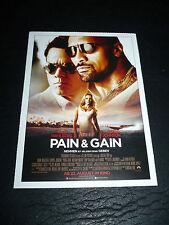 PAIN & GAIN, film card [Mark Wahlberg, Dwayne Johnson, Anthony Mackie]