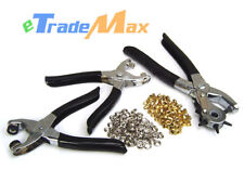 3 PCs Rotary Leather Punch Pliers & Grommet Eyelet Puncher