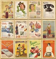 Lot of 32 Vintage Postcards Advertising Album Poster Slogan History Post Cards