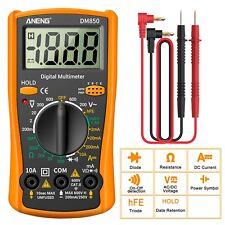 LCD Digital Multimeter Voltmeter Ammeter Ohmmeter Volt AC DC Tester Leads Meter