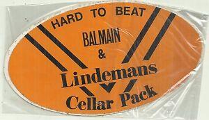 HARD TO BEAT BALMAIN & LINDEMANS BALMAIN TIGERS RUGBY LEAGUE CLUB STICKER