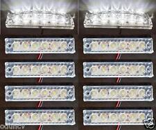 10 pcs 24V 6 LED WHITE FRONT SIDE MARKER LIGHTS FOR DAF MAN VOLVO IVECO SCANIA
